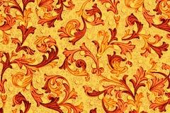 Papel antigo com teste padrão floral Fotografia de Stock