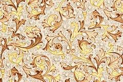 Papel antigo com teste padrão floral Foto de Stock