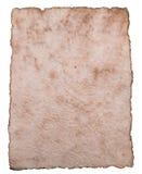 Papel antigo velho da folha isolado no fundo branco fotografia de stock royalty free
