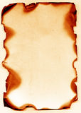 Papel antiguo quemado Fotografía de archivo libre de regalías