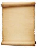 Papel antiguo viejo de la voluta Foto de archivo