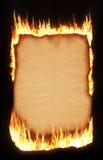 Papel ardiente Foto de archivo libre de regalías