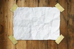 Papel arrugado Imágenes de archivo libres de regalías