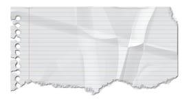 Papel arrugado stock de ilustración