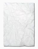 Papel arrugado blanco Imagenes de archivo