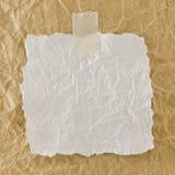 Papel arrugado blanco Imagen de archivo libre de regalías