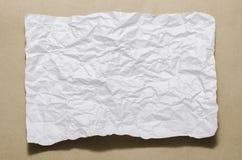 Papel arrugado blanco del tamaño A4 Fotografía de archivo libre de regalías