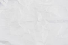 Papel arrugado blanco para el fondo Imágenes de archivo libres de regalías