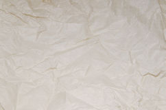 Papel arrugado marrón de la textura Imagen de archivo