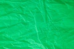Papel arrugado verde Fotos de archivo libres de regalías