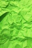 Papel arrugado verde Fotografía de archivo libre de regalías
