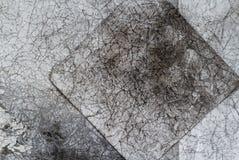 Papel arrugado viejo gris del fondo de Vintege arrugado Fotos de archivo