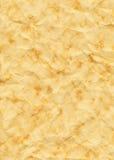 Papel arrugado y Dappled viejo amarilleado Fotografía de archivo libre de regalías