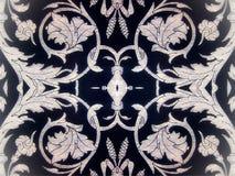 Papel azul con los ornamentos pintados Imágenes de archivo libres de regalías