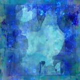 Papel azul de la vendimia de Grunge Imagen de archivo
