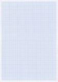 Papel azul do gráfico ou da grade Foto de Stock