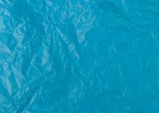 Papel azul turco amarrotado imagem de stock royalty free