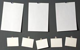 Papel blanco de la foto Fotografía de archivo