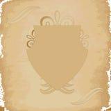 Papel, blindaje y ornamento viejos Imagen de archivo libre de regalías