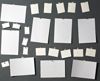 Papel branco da foto fotografia de stock