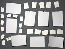 Papel branco da foto imagens de stock royalty free