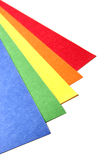 Papel brilhante do ofício da cor Imagens de Stock