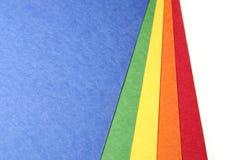 Papel brilhante do ofício da cor Fotografia de Stock Royalty Free