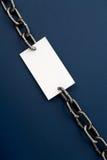 Papel Chain e em branco Foto de Stock Royalty Free