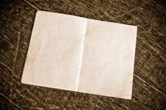 Papel checkered em branco Fotografia de Stock Royalty Free