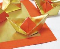 Papel chino del oro Imágenes de archivo libres de regalías
