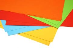 Papel coloreado imágenes de archivo libres de regalías