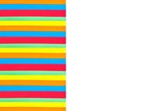 Papel coloreado empilado seccionado transversalmente Foto de archivo