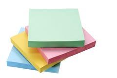 Papel coloreado para las notas Fotografía de archivo libre de regalías