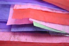Papel colorido Fotografia de Stock