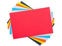 Papel colorido Fotografía de archivo libre de regalías