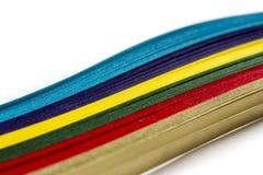 Papel colorido brillante Fotografía de archivo libre de regalías