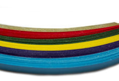 Papel colorido brillante Imágenes de archivo libres de regalías