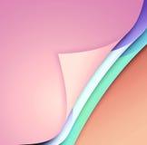 Papel colorido com cantos curvados Fotografia de Stock