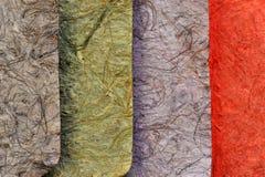 Papel colorido de la mora Imagen de archivo