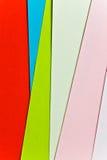 Papel colorido de las hojas Fotos de archivo
