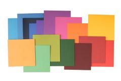 Papel colorido do quadrado Foto de Stock