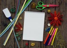 Papel colorido que quilling Imagens de Stock