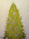 Papel com árvore de Natal Fotografia de Stock