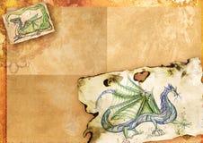 Papel com dragões ilustração do vetor