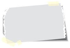 Papel com fita pegajosa Imagens de Stock