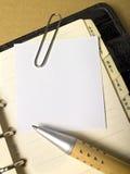 Papel com lápis fotografia de stock