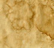 Papel com manchas do café Imagens de Stock