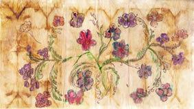 Papel com teste padrão floral ilustração stock