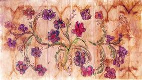 Papel com teste padrão floral fotografia de stock