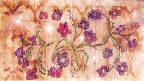 Papel com teste padrão floral ilustração do vetor